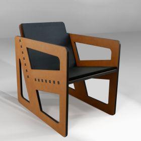 Pointillé armchair 12°,...
