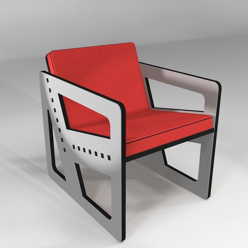 Pointillé armchair 12° light grey