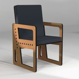 """Activity armchair """"Pointillé"""" 3°, made to order according to the user size"""
