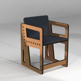 """Chaise """"Pointillé"""", fabrication sur-mesure, taille inférieure à 165 cm"""