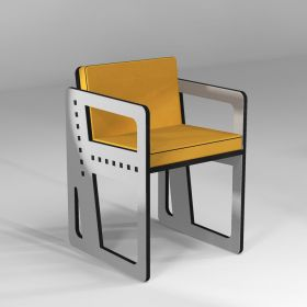 """""""Pointillé"""" chair in color, made-to-measure, for height over 165 cm"""