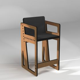 High stool Pointillé, with armrests, made to measure
