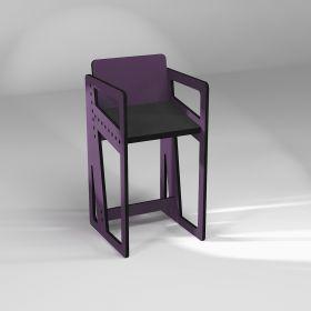 Chaise assis-debout, avec accoudoirs, fabrication sur-mesure, 10 coloris