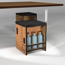 "Kitchen stool ""Pointillés"" with bottle holder."