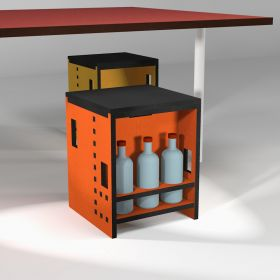 """Kitchen stool """"Pointillés"""" with bottle holder, 10 colors"""