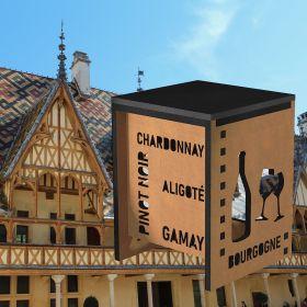 Tabouret Vins de Bourgogne et cépages, hauteur 44 à 86 cm