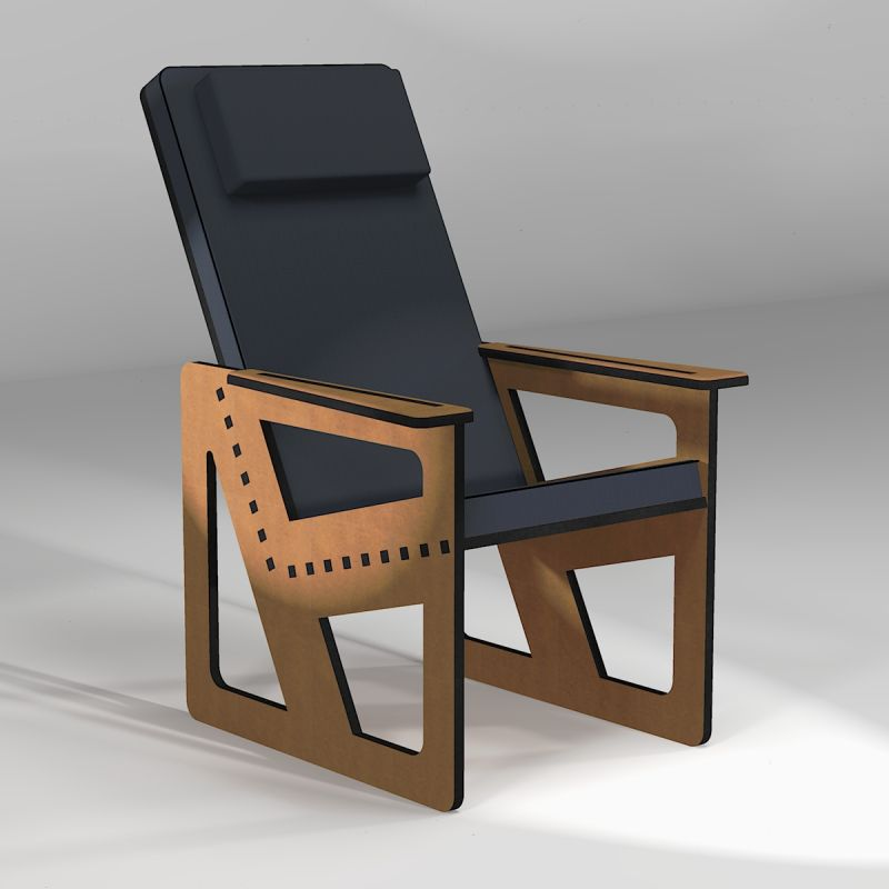 Backcare armchair made to measure, high backrest with a headrest