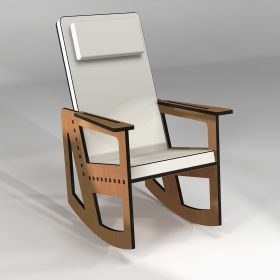 Rocking chair made to measure with high backrest