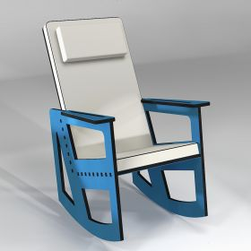 Rocking chair color blue