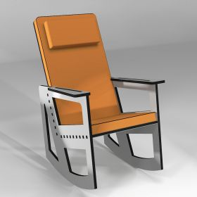 Rocking chair color light grey
