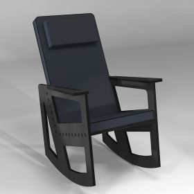 Dark grey rocking chair with headrest, 5 colours of cushions