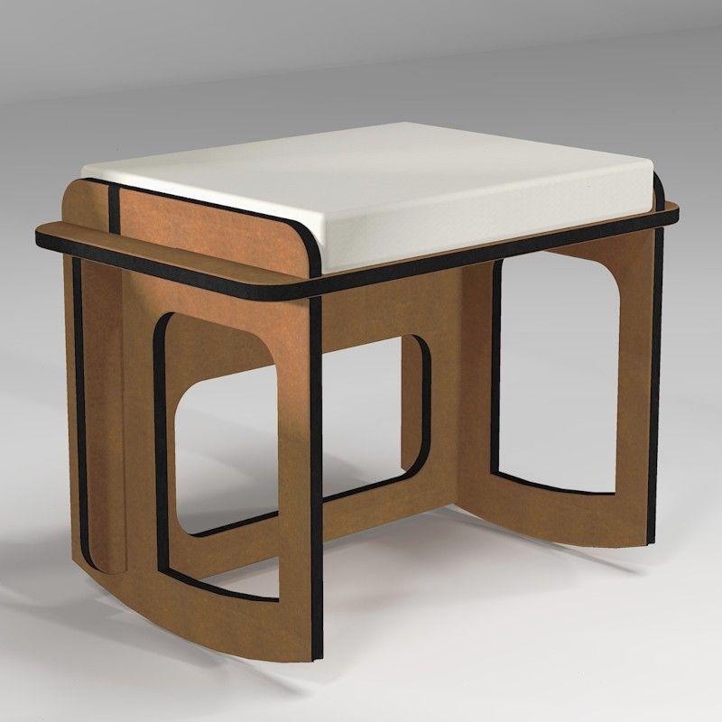 Rocking stool to improve sitting posture