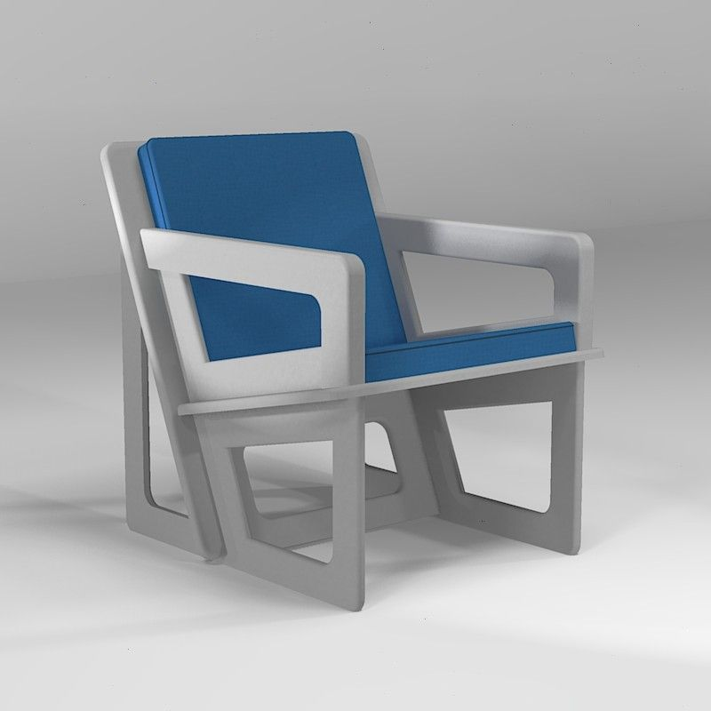 The light grey armchair, tailor-cut to take care of your back