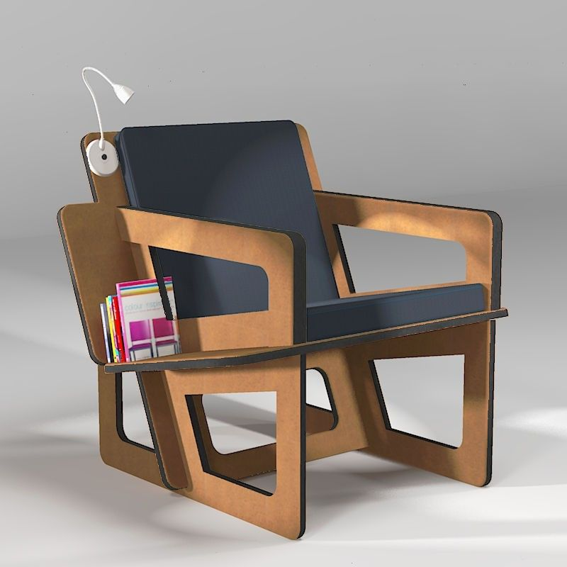 Biblio Aero is a lounge chair, with a book shelf , tailor-made to fit your size from XXS to 5XL