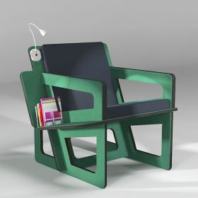 The green bookshelf chair,...