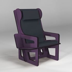 Wingback chair purple,...