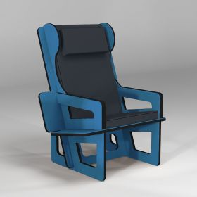 Wingback chair blue, tailor...