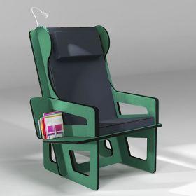 Wingback chair green,...
