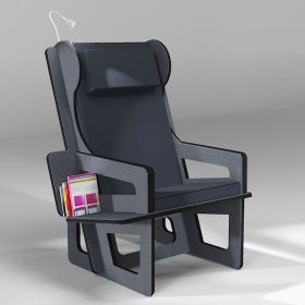 Wingback chair anthracite,...