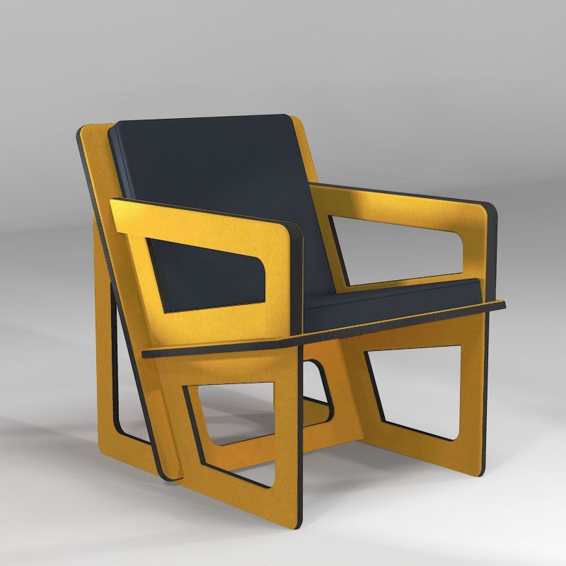 The yellow chair, tailor-cut to take care of your back