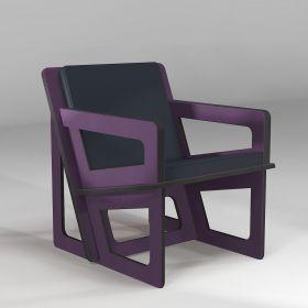 The purple armchair,...