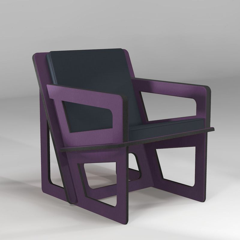 The purple armchair, tailor-cut to take care of your back