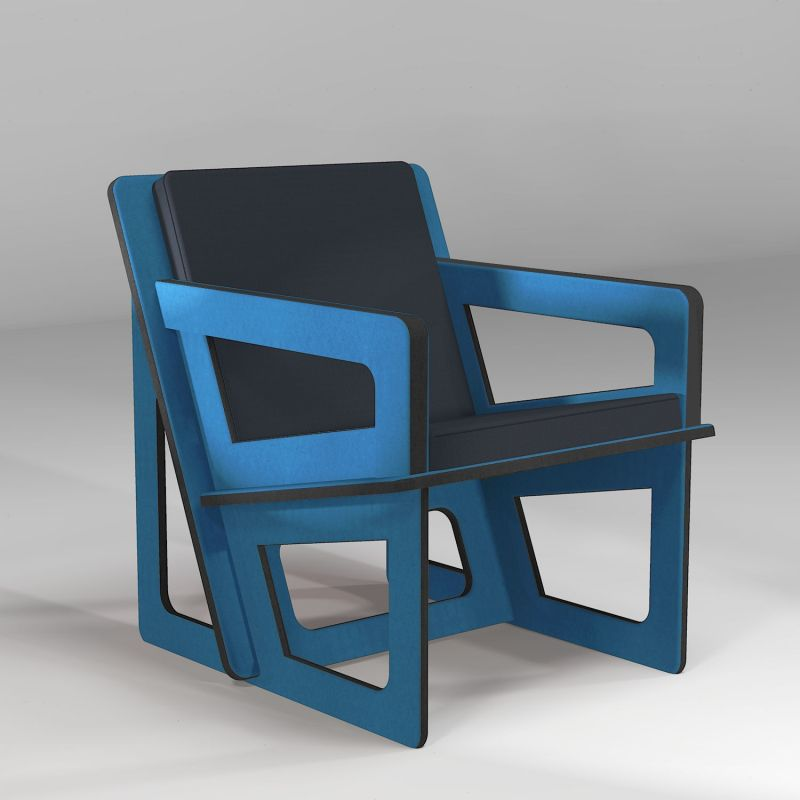 The blue armchair, tailor-cut to take care of your back