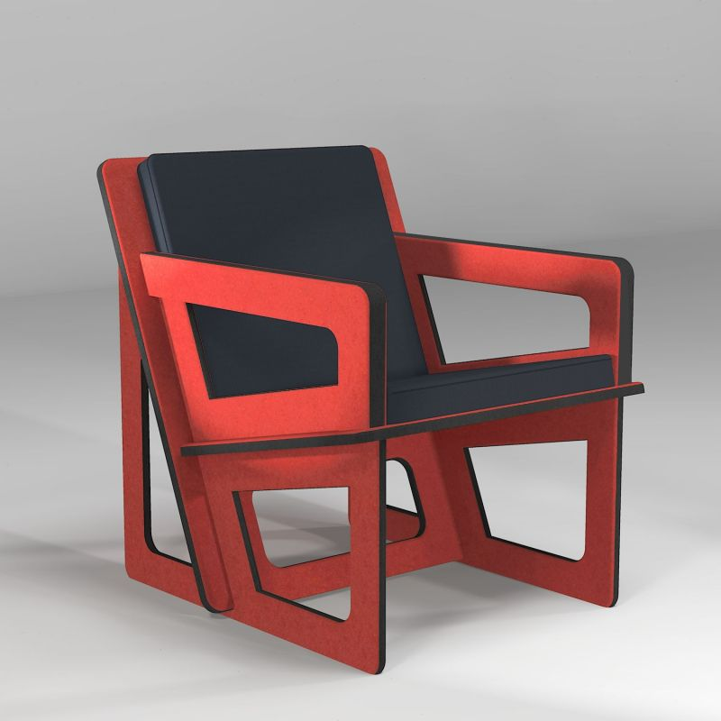 The orange armchair, tailor-cut to take care of your back