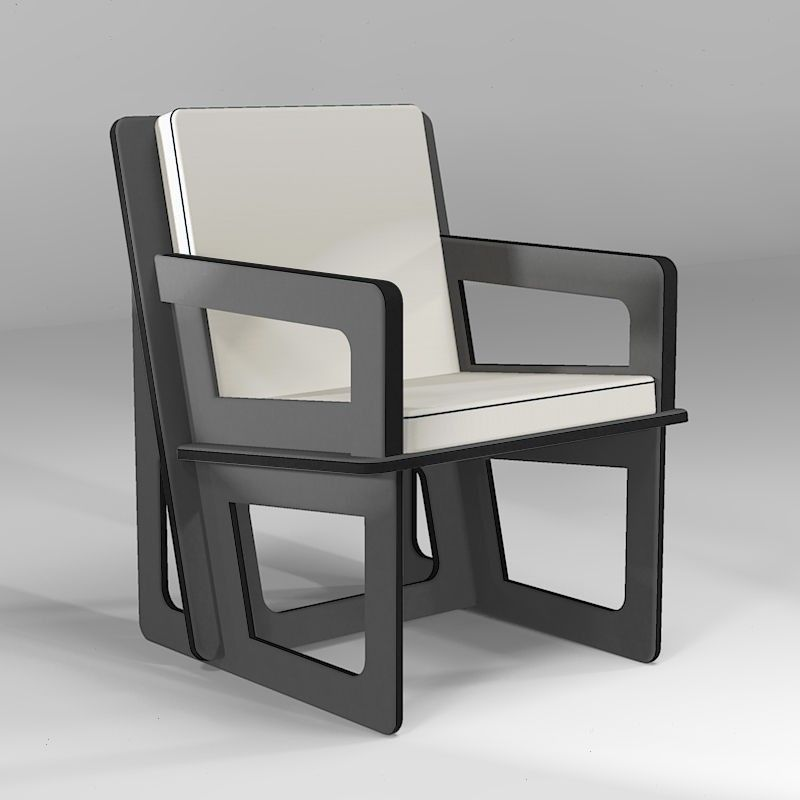 Tailor-made dark gray activity armchair, to eat, play or stand up easily whatever your size