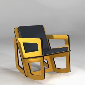 The yellow rocking chair