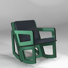 The mint green rocking chair