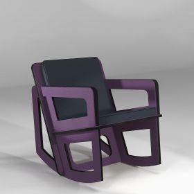 The purple rocking chair custom-made
