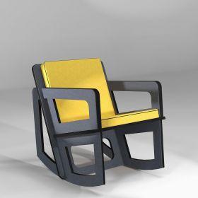 Rocking chair dark grey