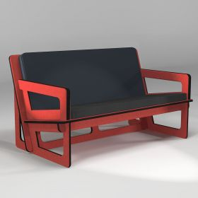 Red Sofa Spacio,  made to measure, for indoor and outdoor use
