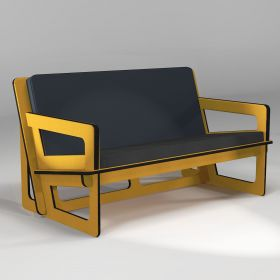 Yellow Sofa Spacio,  made to measure, for indoor and outdoor use