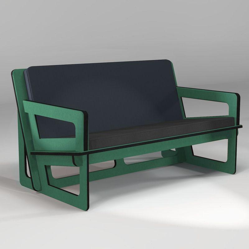 Brown Spacio custom-made sofa, for indoor or outdoor use