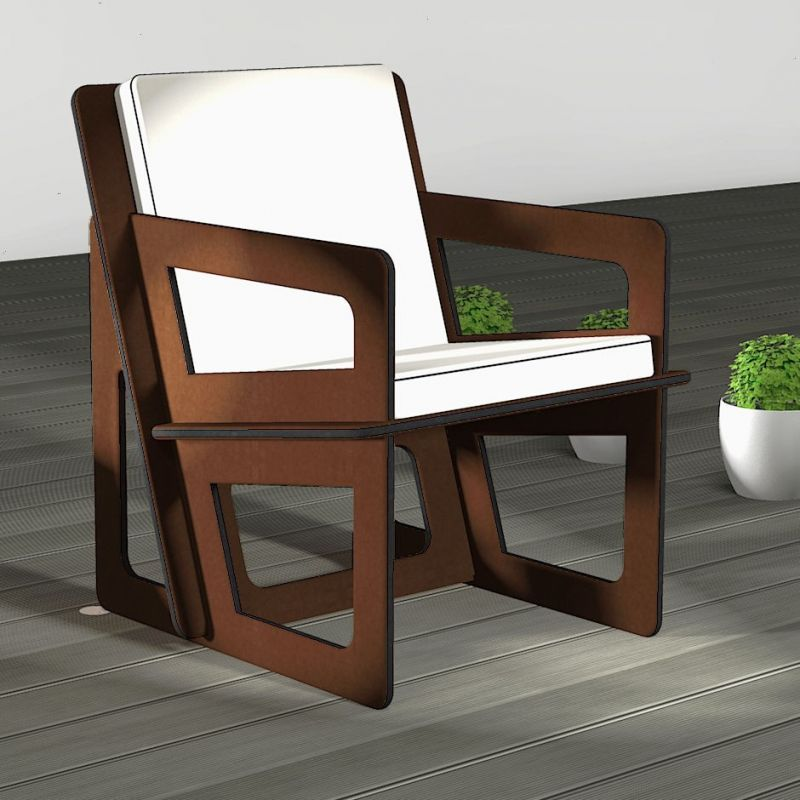 Spacio custom-made rocking chair with light grey cushion