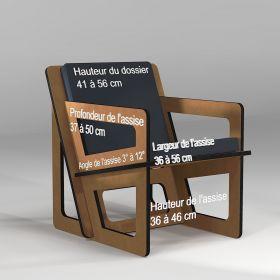 Un petit fauteuil fabriqué sur mesure pour les tailles de moins de 162 cm