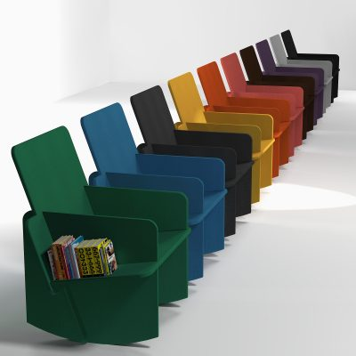 Tailor made chair in Valchromatwith 10 diffrente colors