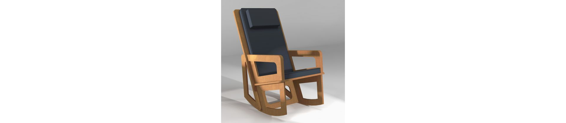 Rocking chair for falling asleep and for the back