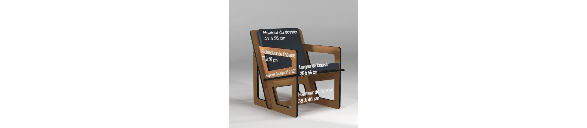 Small armchair for small size