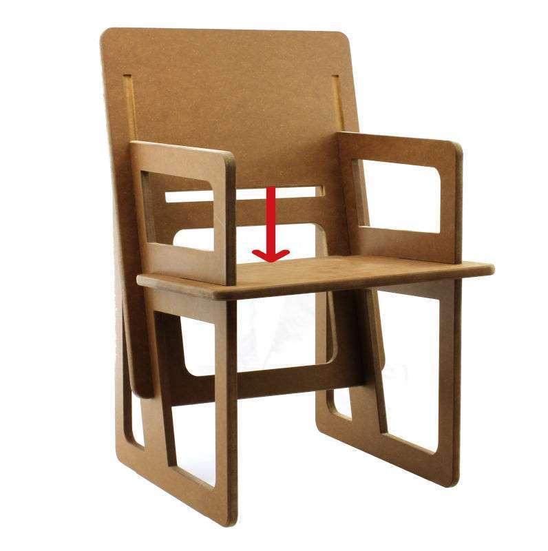 Montage du fauteuil sur mesure étape 3