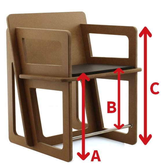 Pris de mesure d'une chaise
